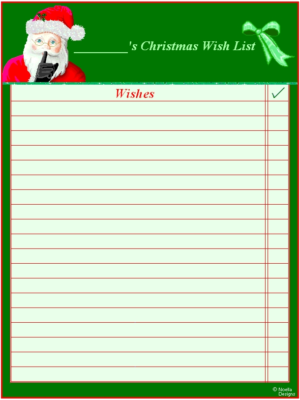 Best Photos Of Wish List Printable Template - Birthday Wish List with Blank Christmas List 19111