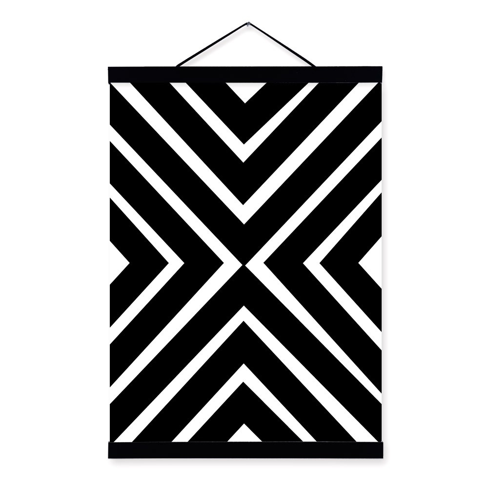 Black White Modern Minimalist Geometric Shape Art Prints Poster throughout Geometric Shapes Art Black And White 24483
