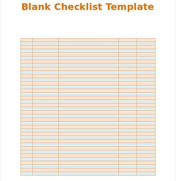 photo relating to Blank Checklist titled Blank Listing Template 36+ No cost Psd, Vector Eps, Ai