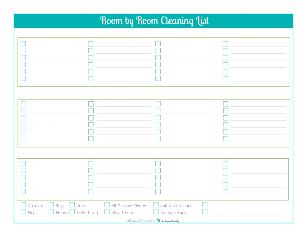 Blank Cleaning Checklist Template | World Of Example regarding Blank Cleaning Checklist Template 19141