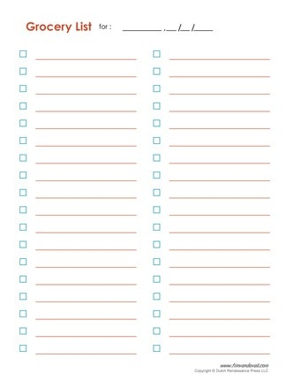 Blank Grocery List Template Blank Shopping List Template Pdf Tims within Blank Shopping List Pdf 19281