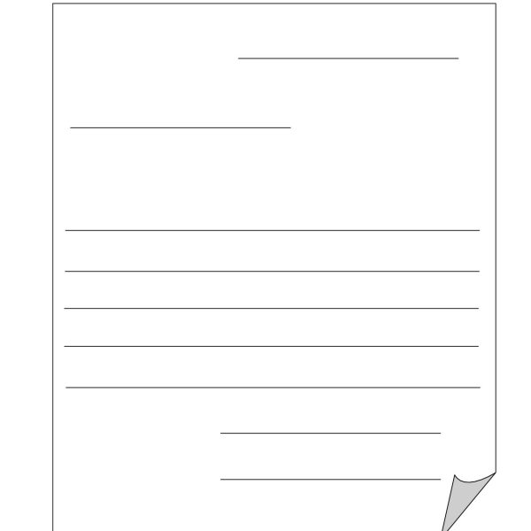 Blank Letter Template For Kids Blank Template Friendly Letter With