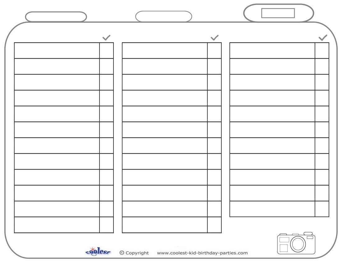 Blank List Printable | World Of Example with Blank List Printable 19201