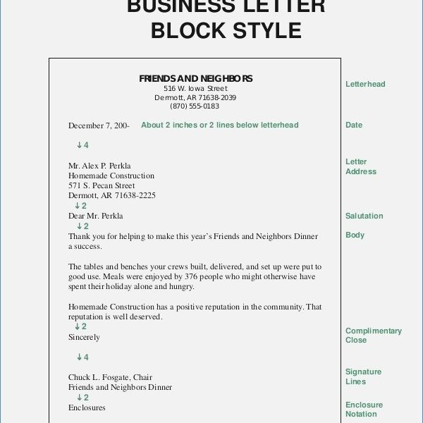 Block Style Format Business Letter Premierme Co Throughout