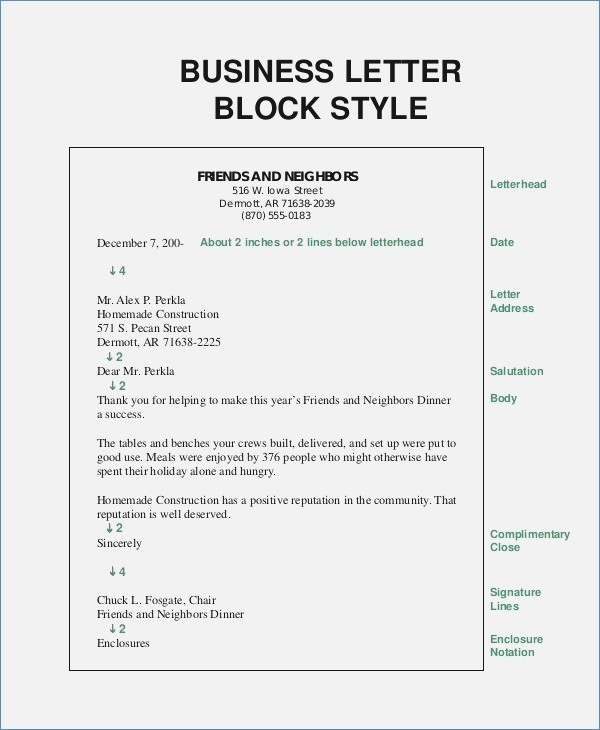 Block Style Format Business Letter – Premierme.co throughout Personal Business Letter Format Block Style 21911
