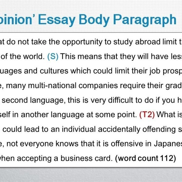 essay body paragraph topic sentence A topic sentence should contain the main idea of the paragraph, and should follow the same rules as the thesis statement writers should start by writing down one of the main ideas, in sentence form the topic sentence should frame the paragraph.