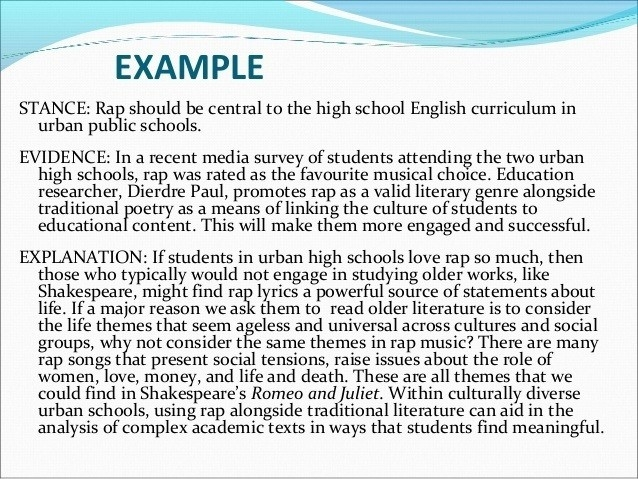 Body Paragraph Examples High School | World Of Example inside Body Paragraph Examples High School 18851