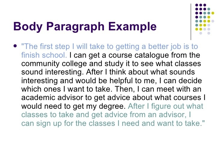 Body Paragraph Examples inside Body Paragraph Examples 18841