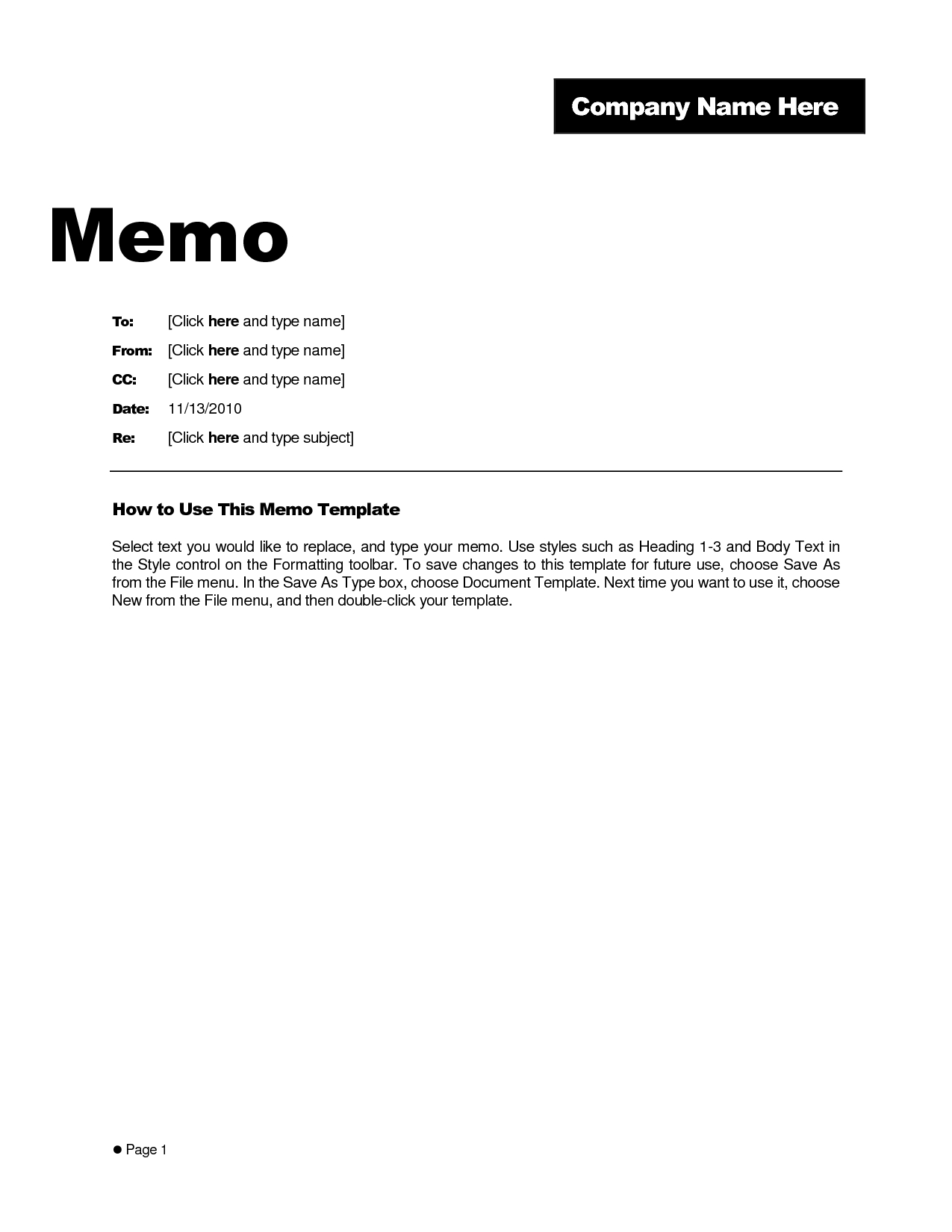 Brilliant Business Memo Format And Template Example : Vlashed with Business Memo Format Microsoft Word 22604