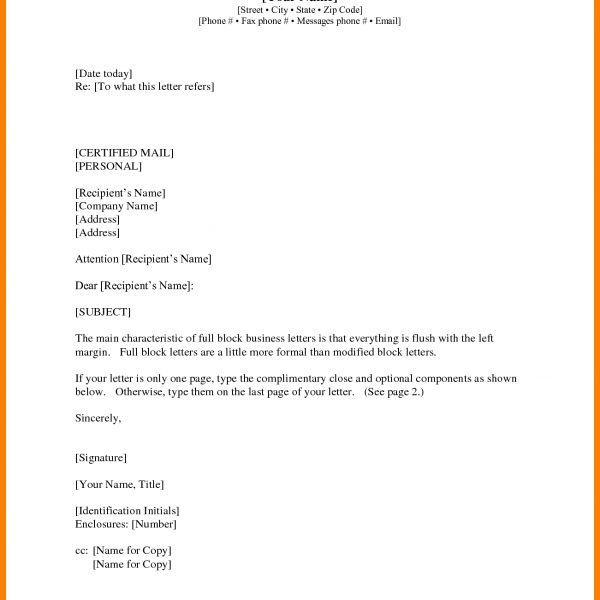 Business Letter Format Cc Recent Pics And Enclosure With with