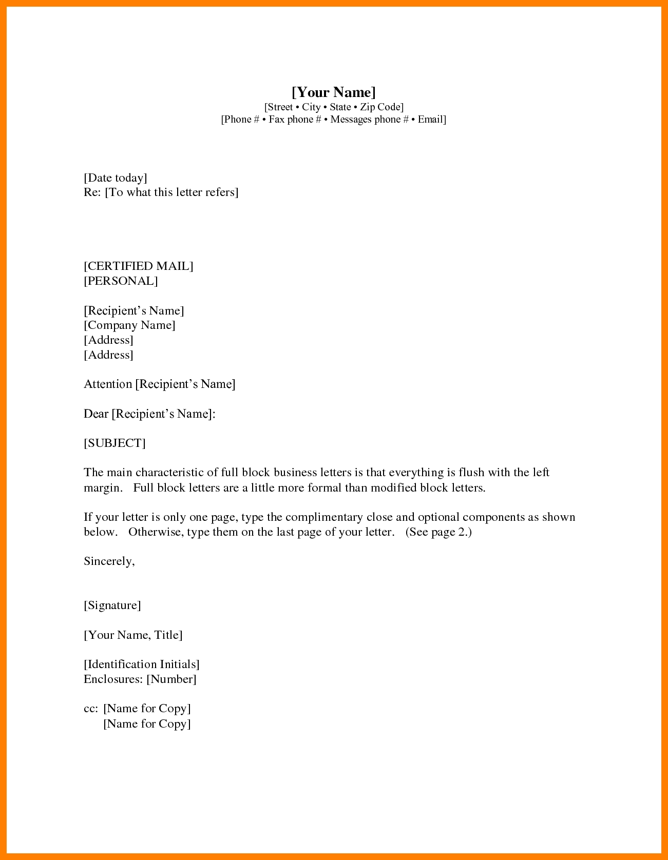 Business Letter Format Cc Recent Pics And Enclosure With with regard to Business Letter Format Enclosure 20098