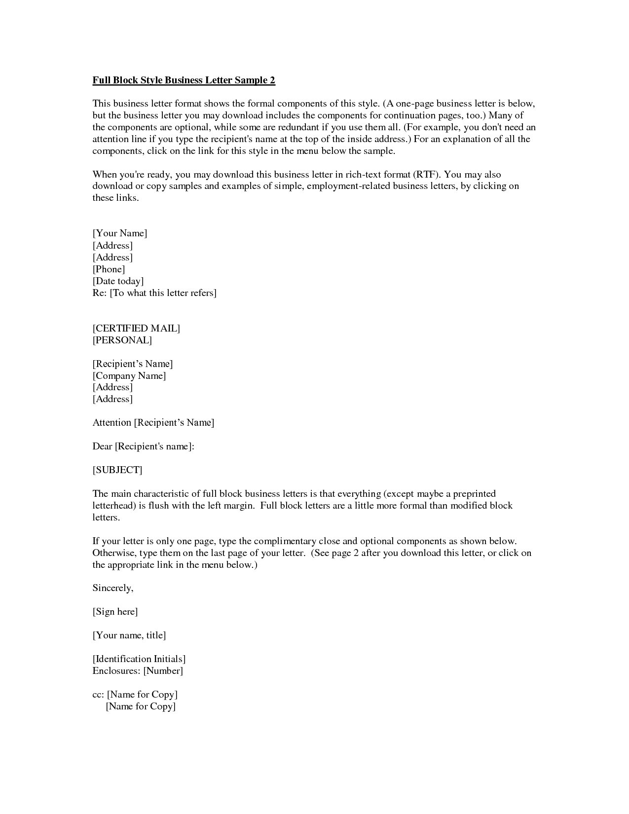 Business Letter Format Enclosure | Examples And Forms in Formal Business Letter Format With Enclosure 22354