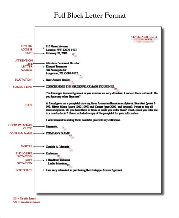 Business Letter Format Spacing | Letters Example regarding Business Letter Format Spacing 20108