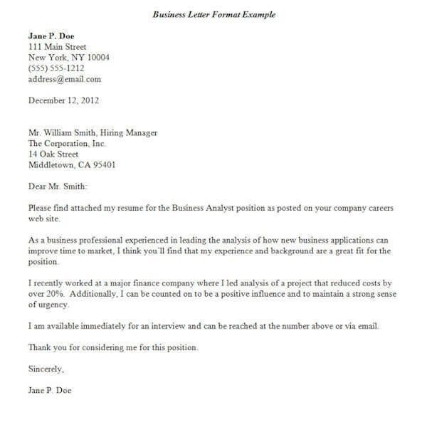 Formal Business Letter Format Template Altin Northeastfitness Co