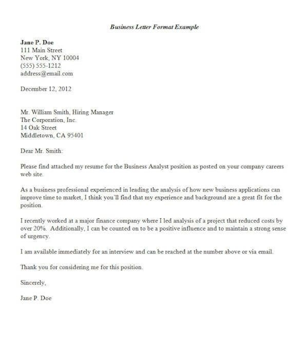 Business Letter Format Template Free Letters Organization | Home regarding Formal Business Cover Letter Format 22544