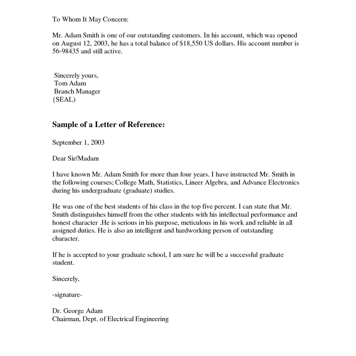 Business Letter Format To Whom It May Concern | World Of Example throughout Business Letter Format To Whom It May Concern