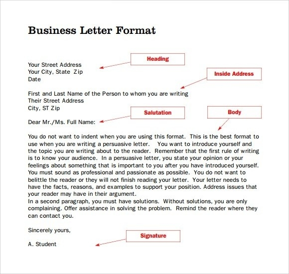 Business Letter Format With Letterhead Business Letter Format pertaining to Business Letter Format Without Letterhead 21791