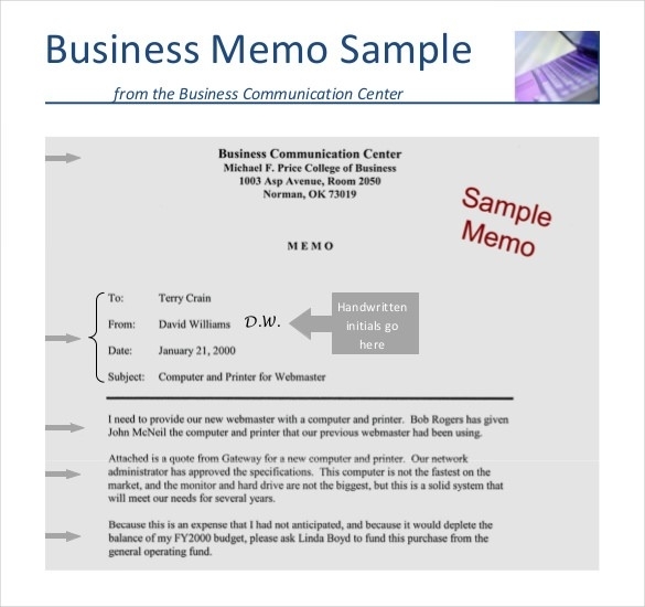 Business Memo Template 18 Free Word Pdf Documents Download With
