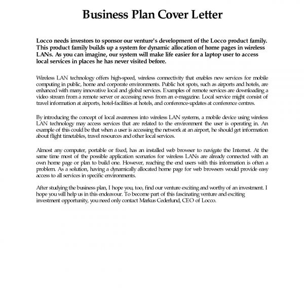 Business plan cover letter sample free example page examples in business plan cover letter sample free example page examples in business proposal cover letter format spiritdancerdesigns Choice Image
