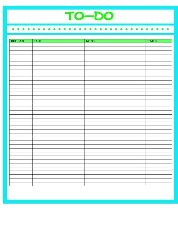 Business Printable To Do List | World Of Example throughout Business Printable To Do List 21561
