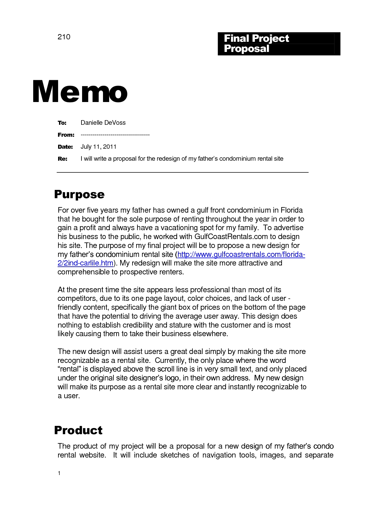 Sample Memo to Customers