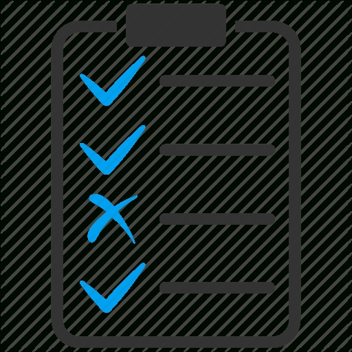 Check, Checklist, Document, Form, List, Report, Test Icon | Icon for Checklist Png 22144
