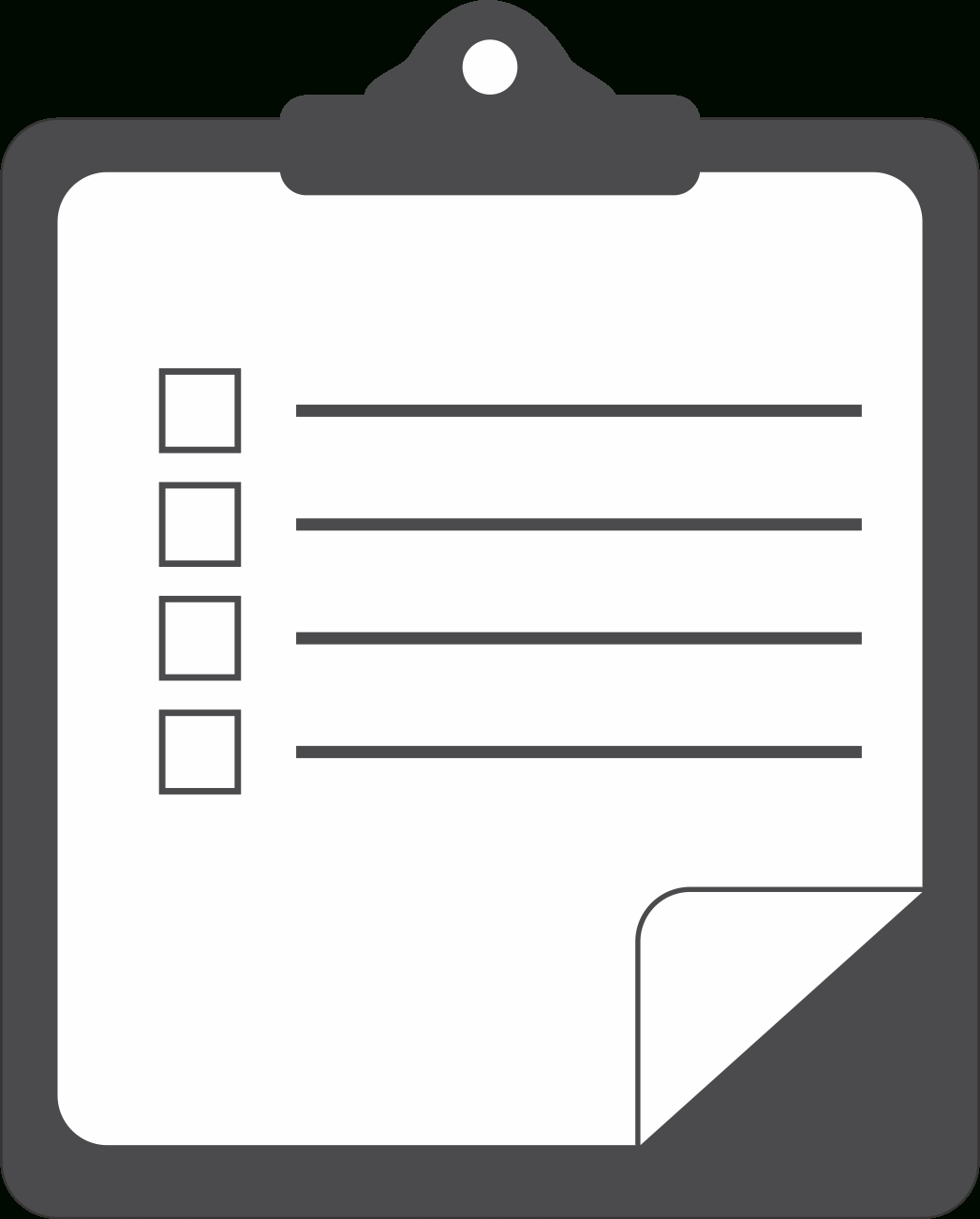 Checklist Clipart Black And White - Clip Art Library throughout Blank Checklist Png 19051