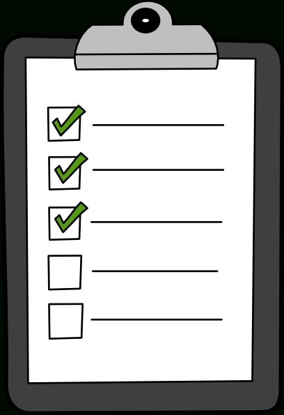 Checklist Clipart Black And White | Letters Format Throughout pertaining to Blank Checklist Clipart 19031