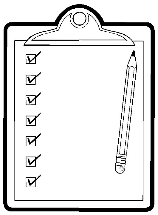 Checklist Clipart Black And White | World Of Example inside Checklist Clipart Black And White 22254