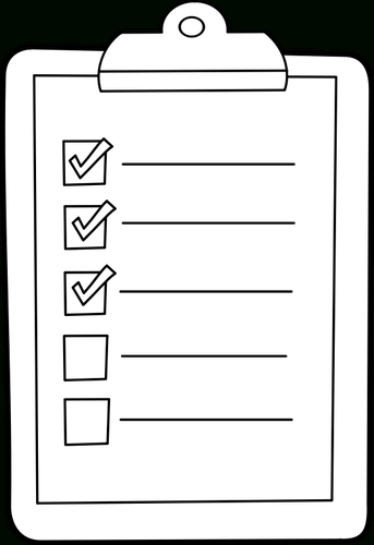 Checklist Icon Image | Public Domain Vectors throughout Checklist Clipart Black And White 22254