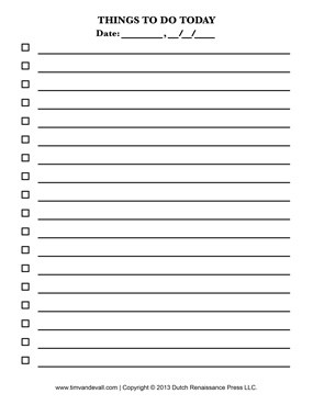 Checklist Template | Education For The Mind, Body And Soul in Blank Checklist Template For Kids 19081