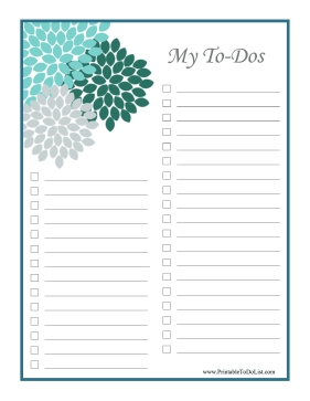 Checklists in To Do List Printable Checklist 22824