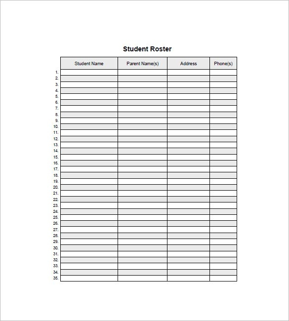 Class List Template - 15 Free Word, Excel, Pdf Format Download with Name List Template 20368