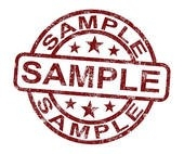 Clip Art Of Sample Stamp Shows Example Symbol Or Taste K9791822 for Sample Stamp Clipart 19784