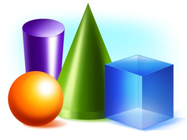 Clipart 3D Shapes - Clipart Collection | 3D Triangular Prism in 3D Shapes Clip Art 19543
