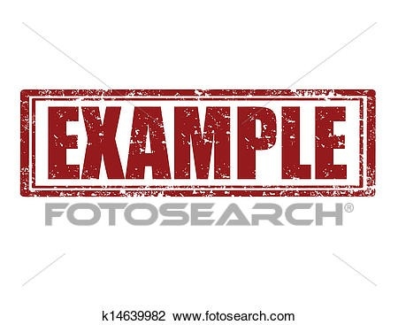 Clipart Of Example-Stamp K14639982 - Search Clip Art, Illustration with Example Stamp Clipart 19774