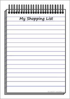 Cliparts Shopping List | Free Download Clip Art | Free Clip Art inside Shopping List Clipart 20308