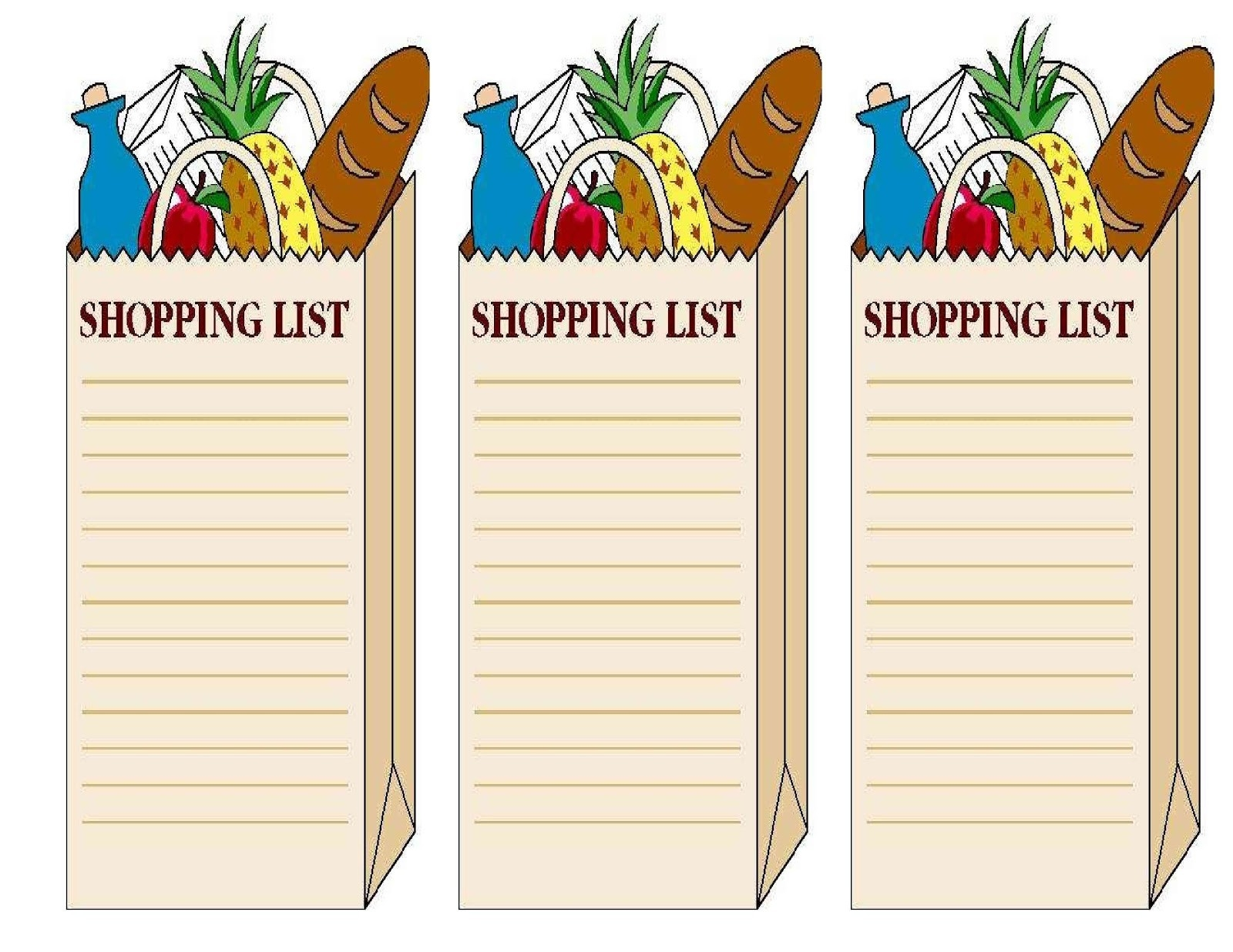 Cliparts Shopping List | Free Download Clip Art | Free Clip Art within Shopping List Clipart 20308