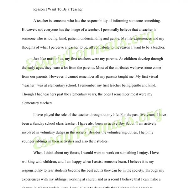 College Admissions Essay Format Heading Example