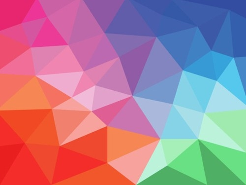 Colored Geometric Shapes Art Background Vector - Vector Background in Geometric Shapes Art 23948