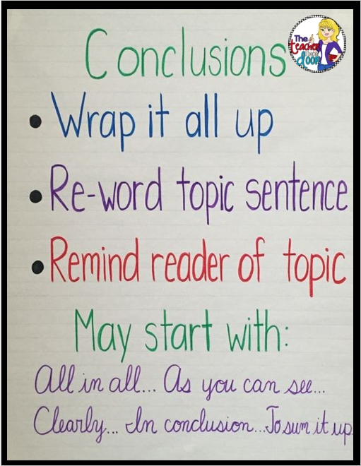 Conclusion Are So Tricky! Read About How I Teach This Difficult intended for Conclusion Sentence Examples For Kids 21181