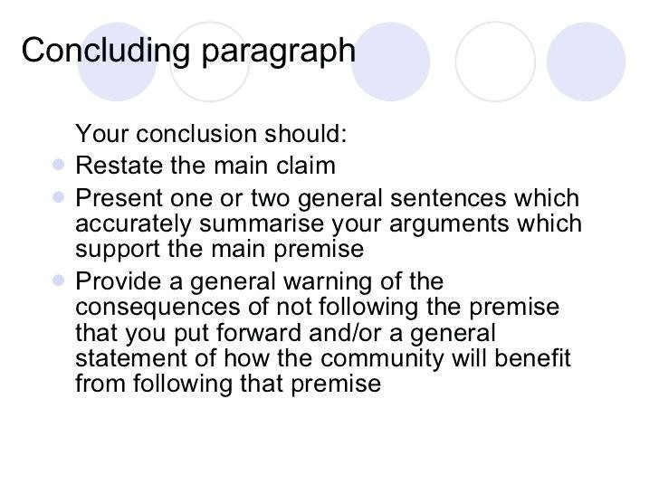 Conclusion Paragraph Example Argumentative Essay | World Of Example for Conclusion Paragraph Examples For Argumentative Essay 20750