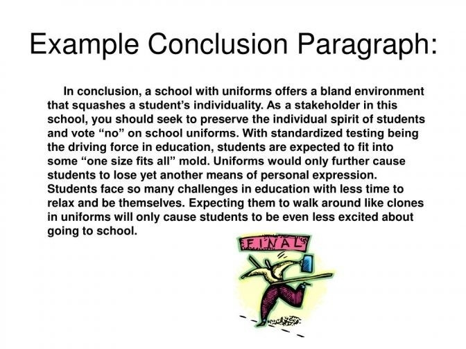 Conclusion Paragraph Example | World Of Example with regard to Conclusion Paragraph Examples 20670