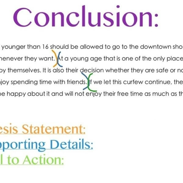 Conclusion Paragraph Examples For Research Papers | World Of pertaining to Conclusion Examples For Kids 18961