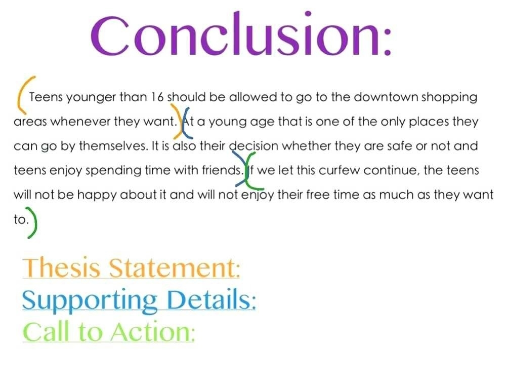 Conclusion Structure Example | World Of Example with regard to Conclusion Structure Example 20730