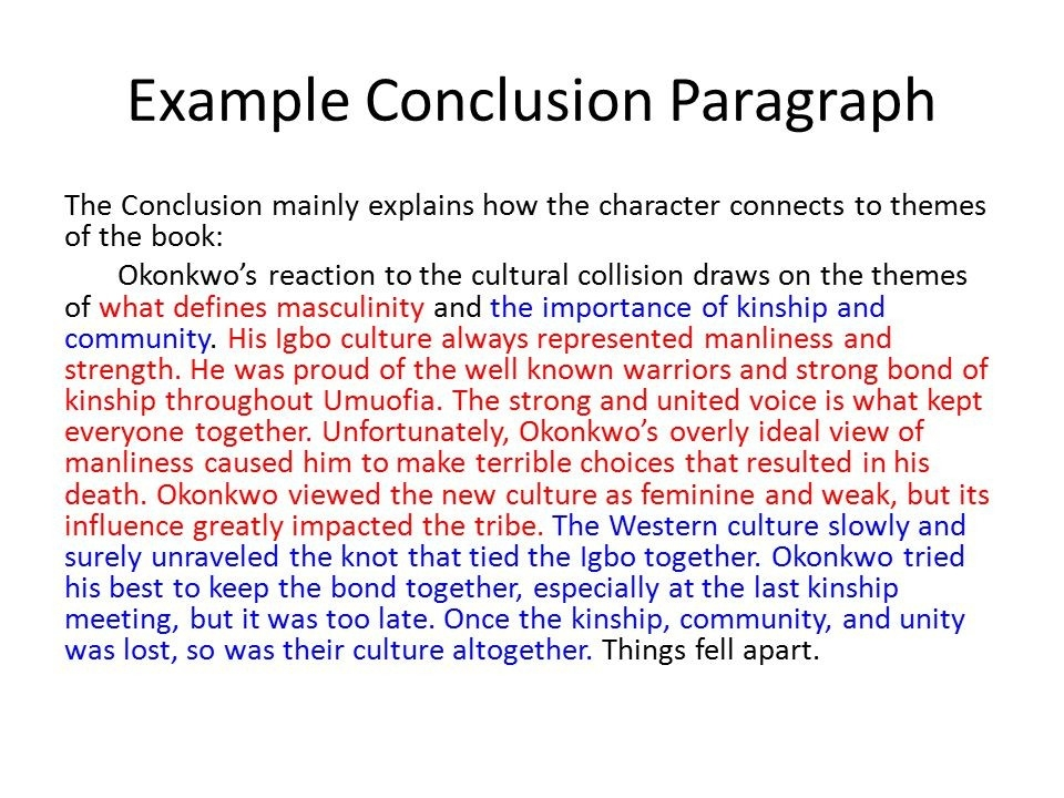 Conclusion To An Essay Examples - Fieldstation.co pertaining to Conclusion Paragraph Examples 20670