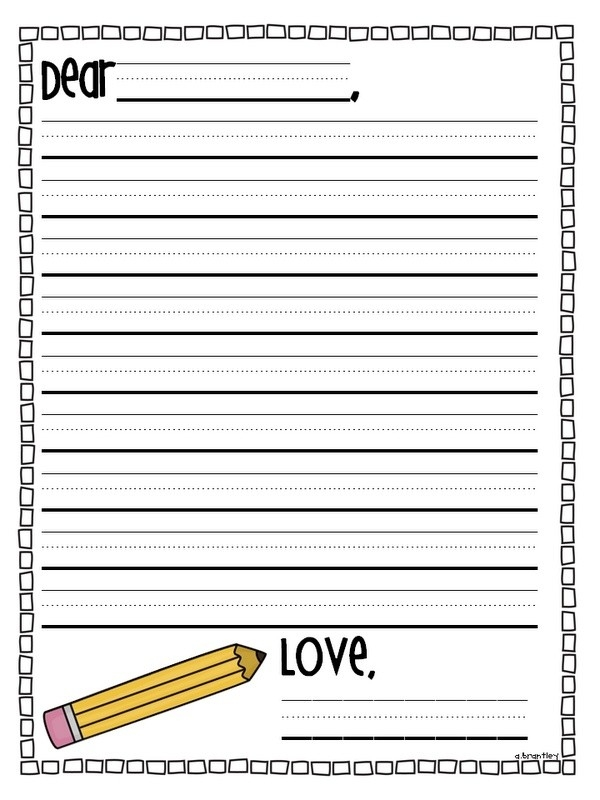 Cool Letter Writing Paper First Grade For Friendly Letter Format with regard to Friendly Letter Format First Grade 20911