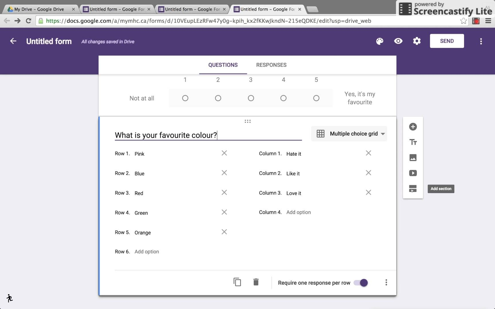how to create survey form in google docs