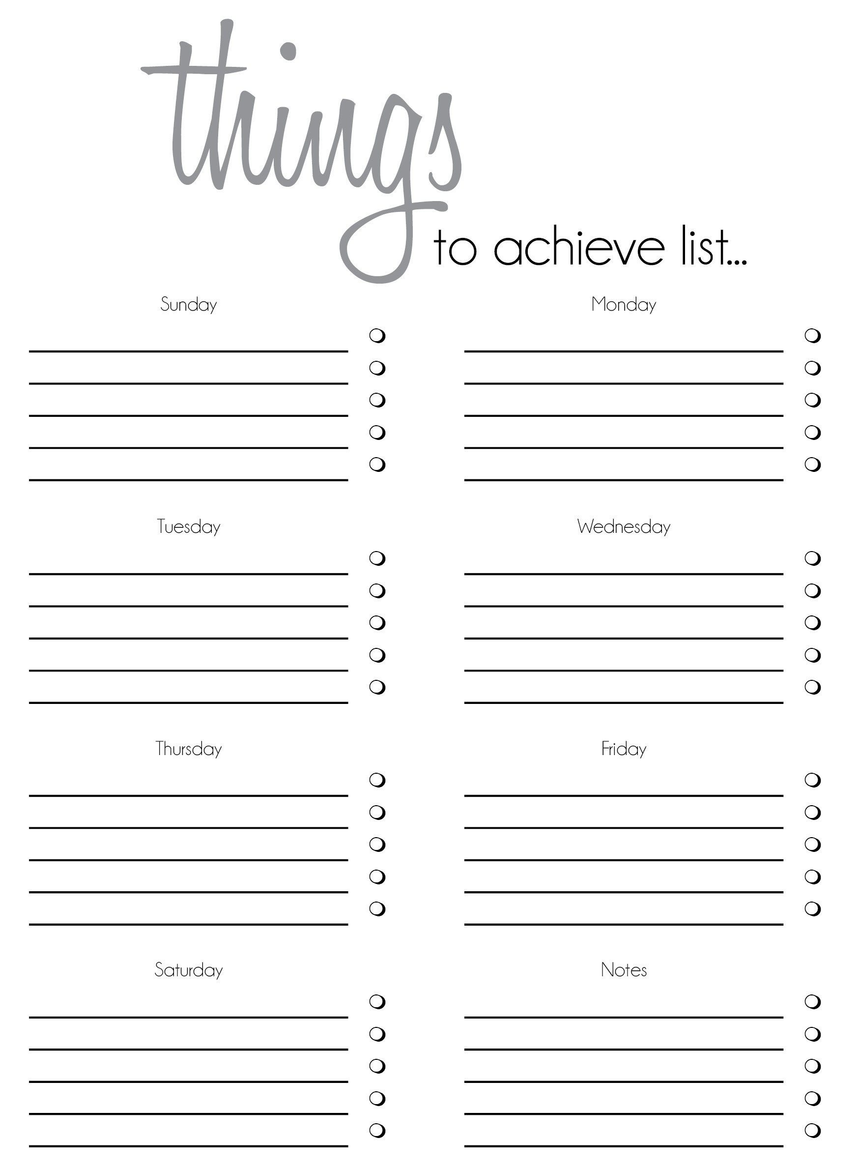 Cute Blank List Template | World Of Example throughout Cute Blank List Template 20408