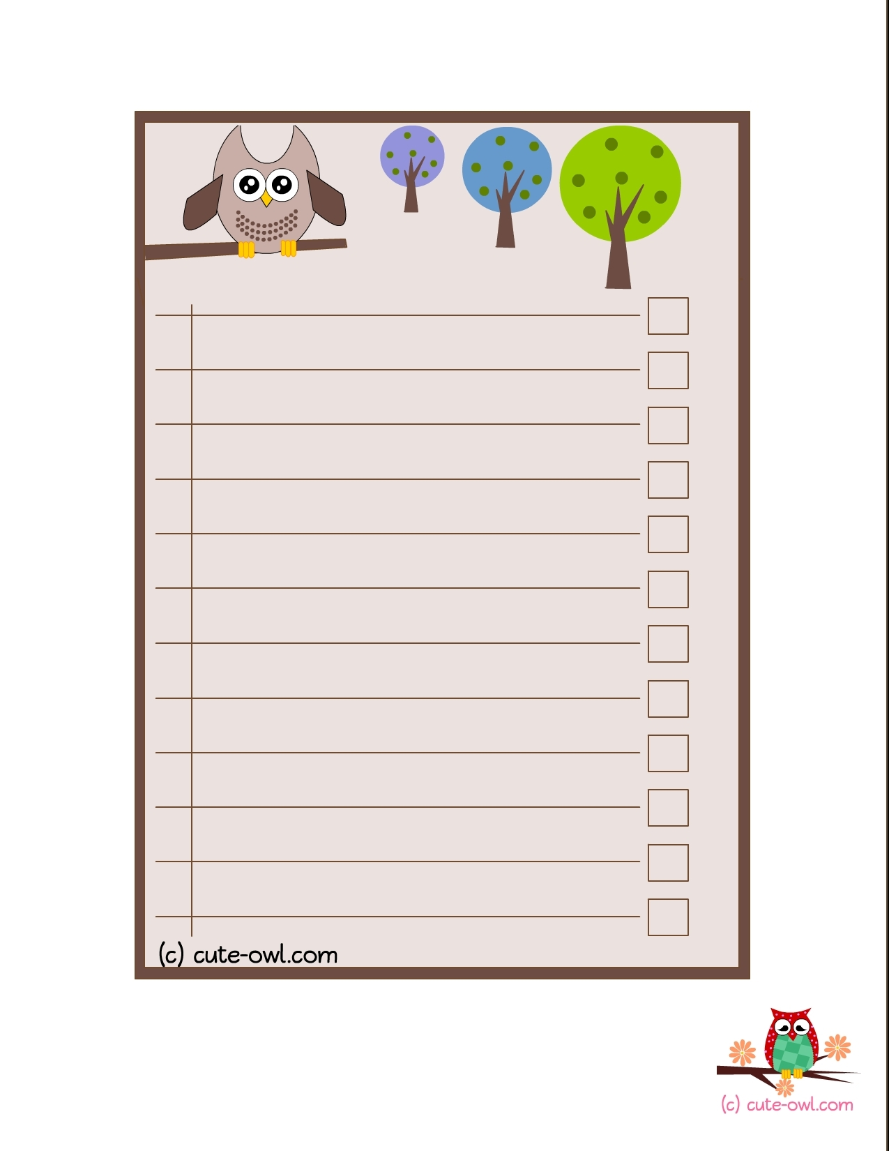 Cute Checklist Template | World Of Example throughout Cute Checklist Template 22064